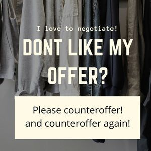 Other - If you don't make an offer, I can't say yes!